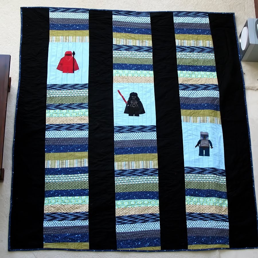 Jodell's Star Wars quilt front