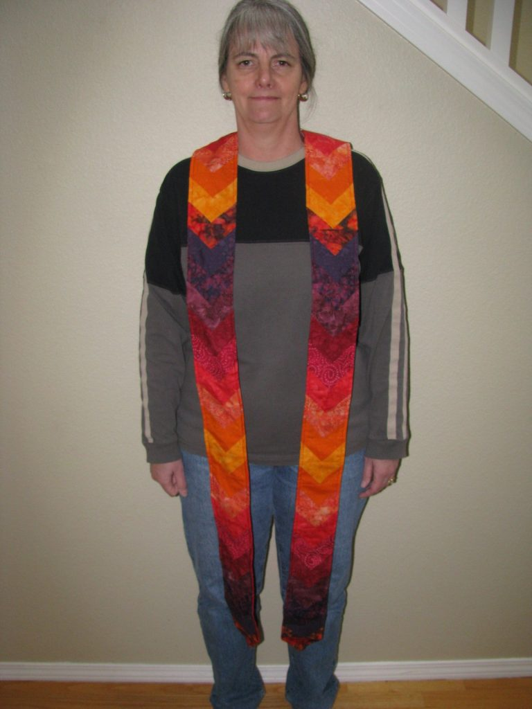 Quilted Minister's Stole, Finished Stole