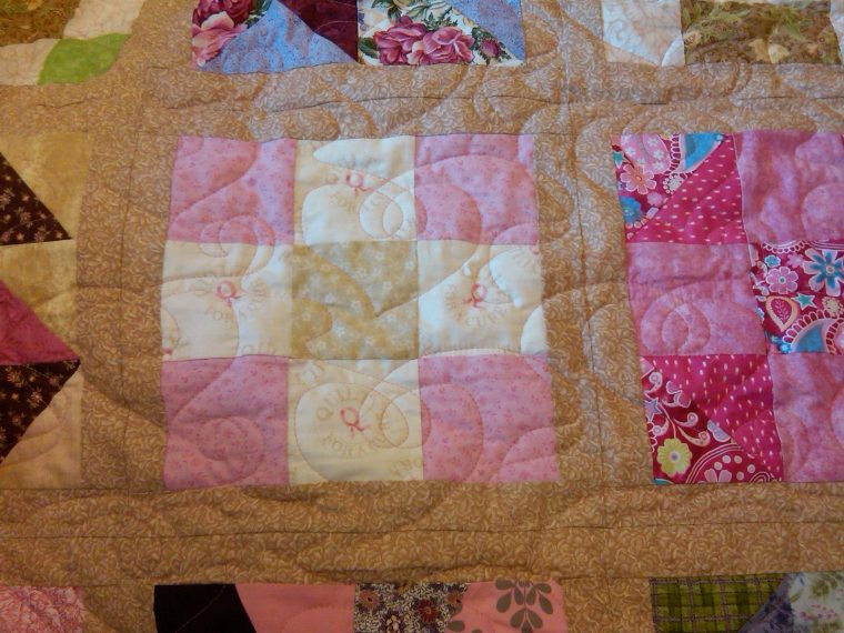 Kris's Quilt Front Detail with Quilting