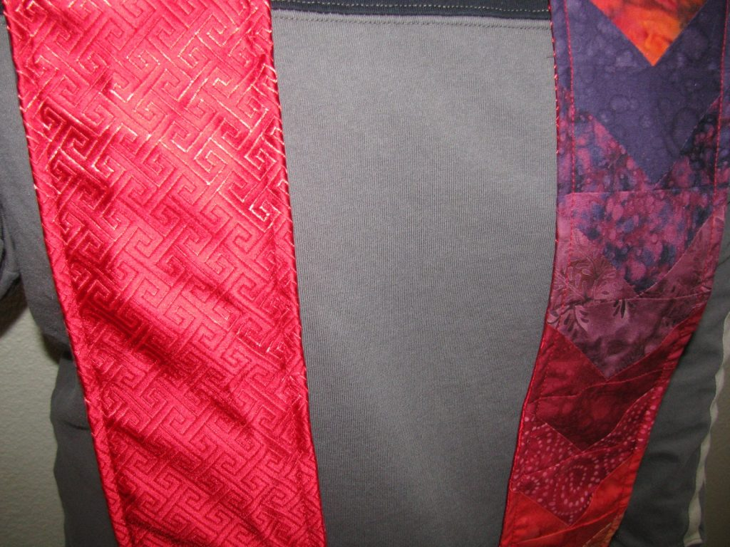 Quilted Minister's Stole, One side up one side down