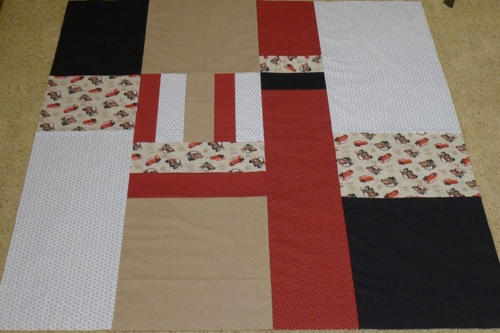 Labyrinth by Debbie Maddy of Calico Carriage Quilt Designs, Pieced quilt back