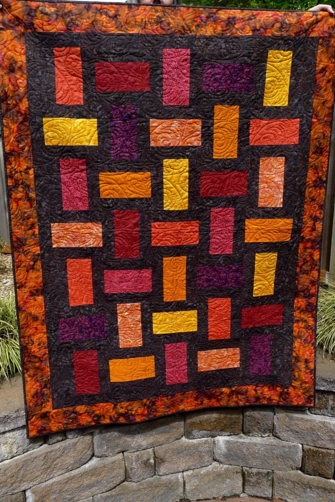 Charming Fractions by Kari Nichols, Mountainpeek Creations, Finished Quilt