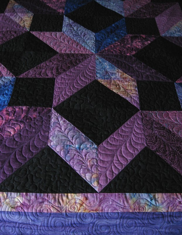 Cosmic Jewels (carpenter star), Quilting detail on border