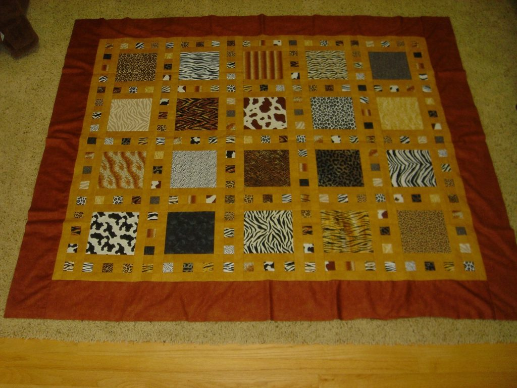 Slide Show quilt pattern by Terry Atkinson of Atkinson Designs, Borders done but 'full'