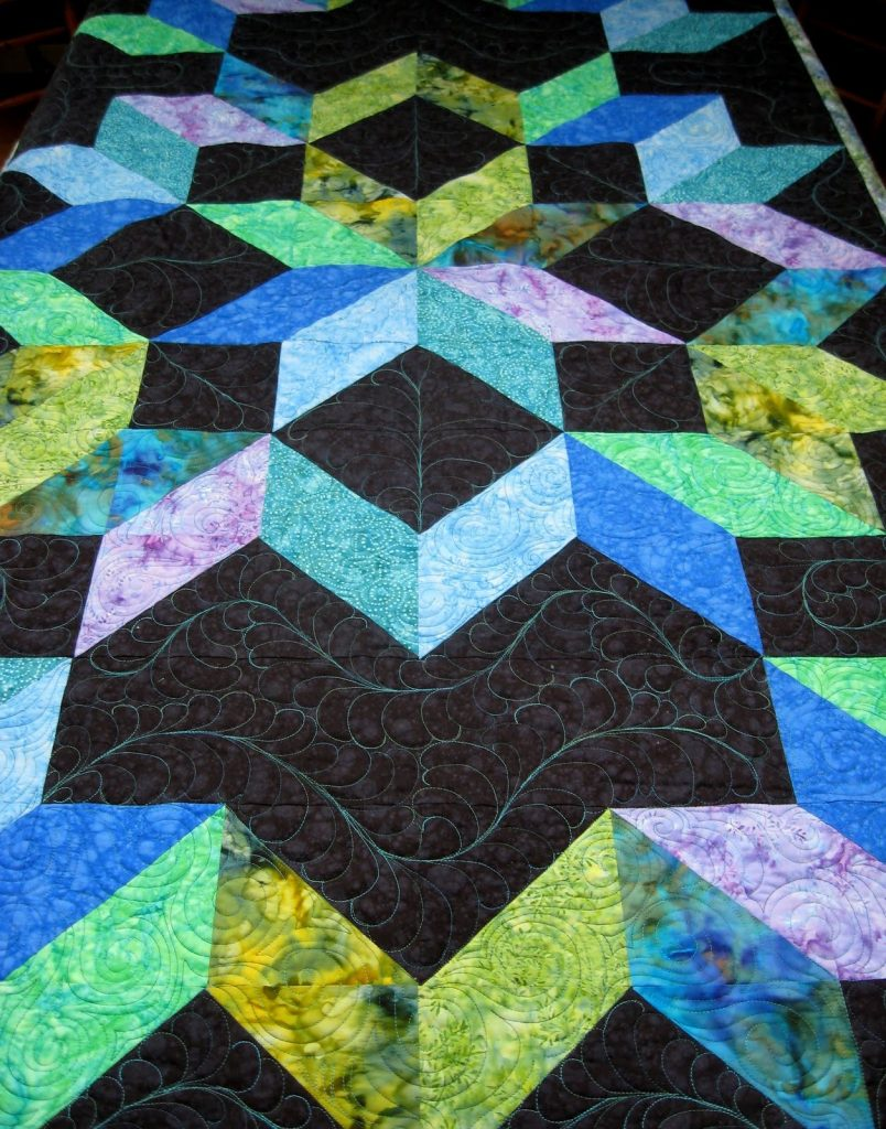 Cosmic Jewels (carpenter star), Karen's amazing quilting.