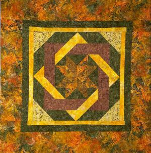 Labyrinth by Debbie Maddy of Calico Carriage Quilt Designs, My idea for a square twin
