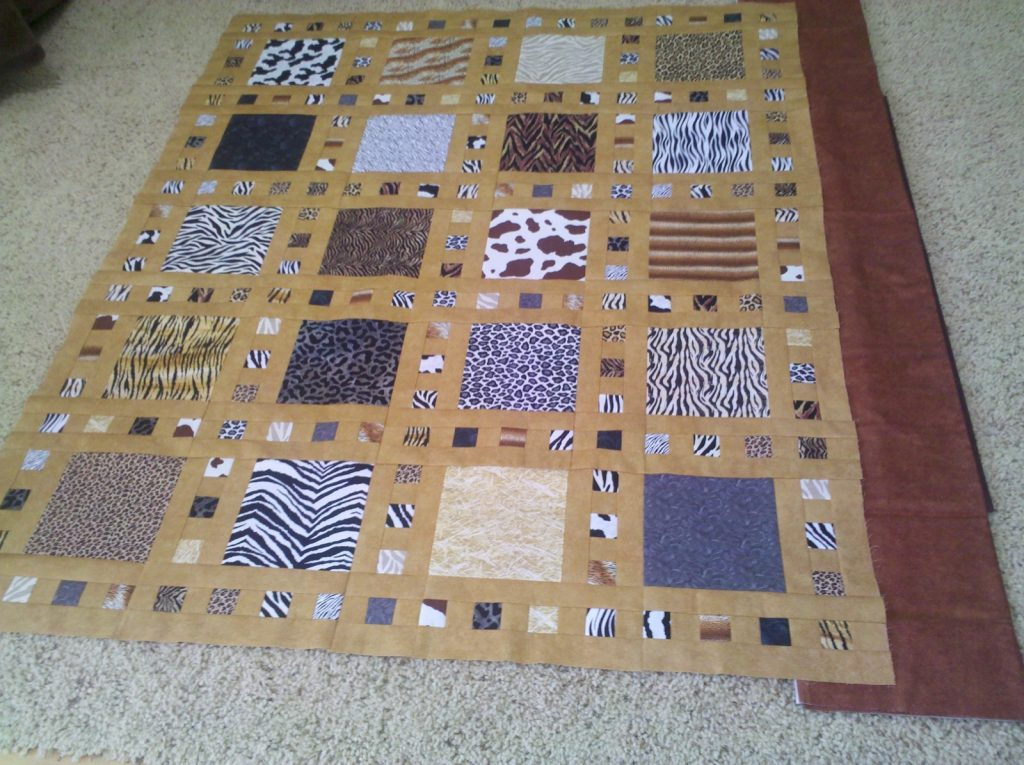Slide Show quilt pattern by Terry Atkinson of Atkinson Designs, Auditioning border fabric