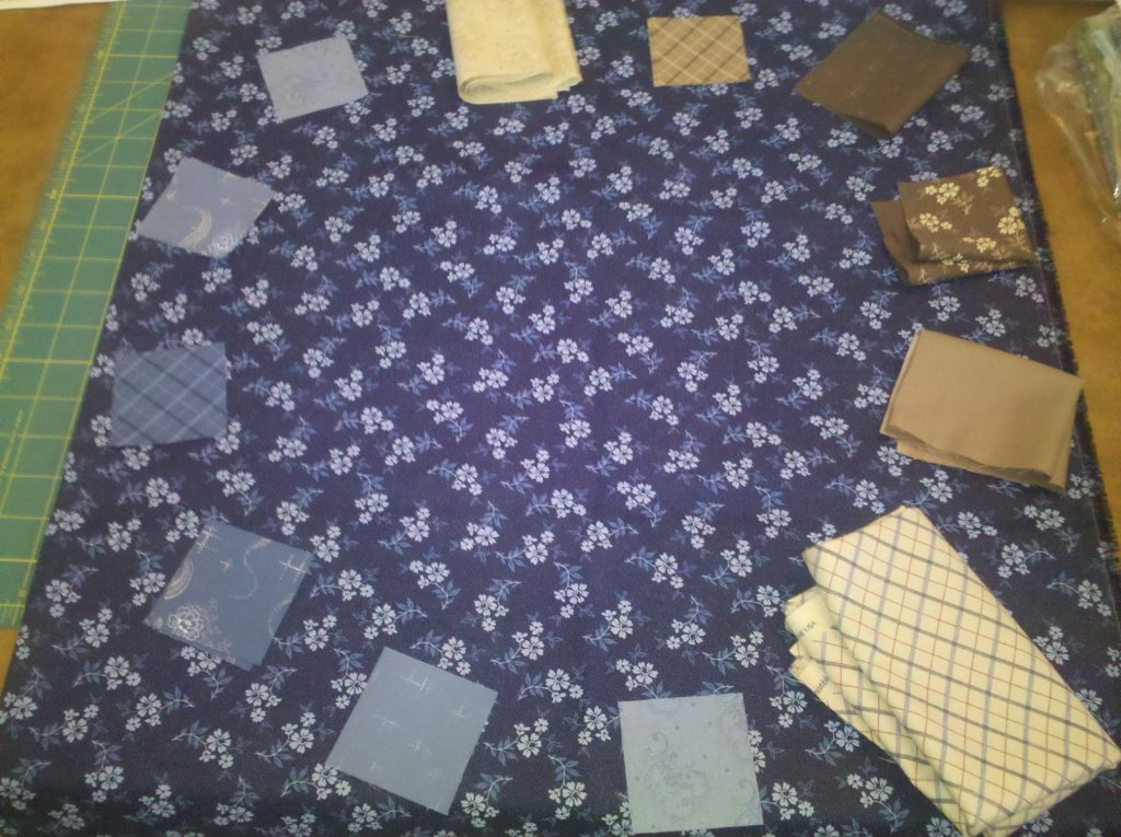 Auditioning fabric for geese 1