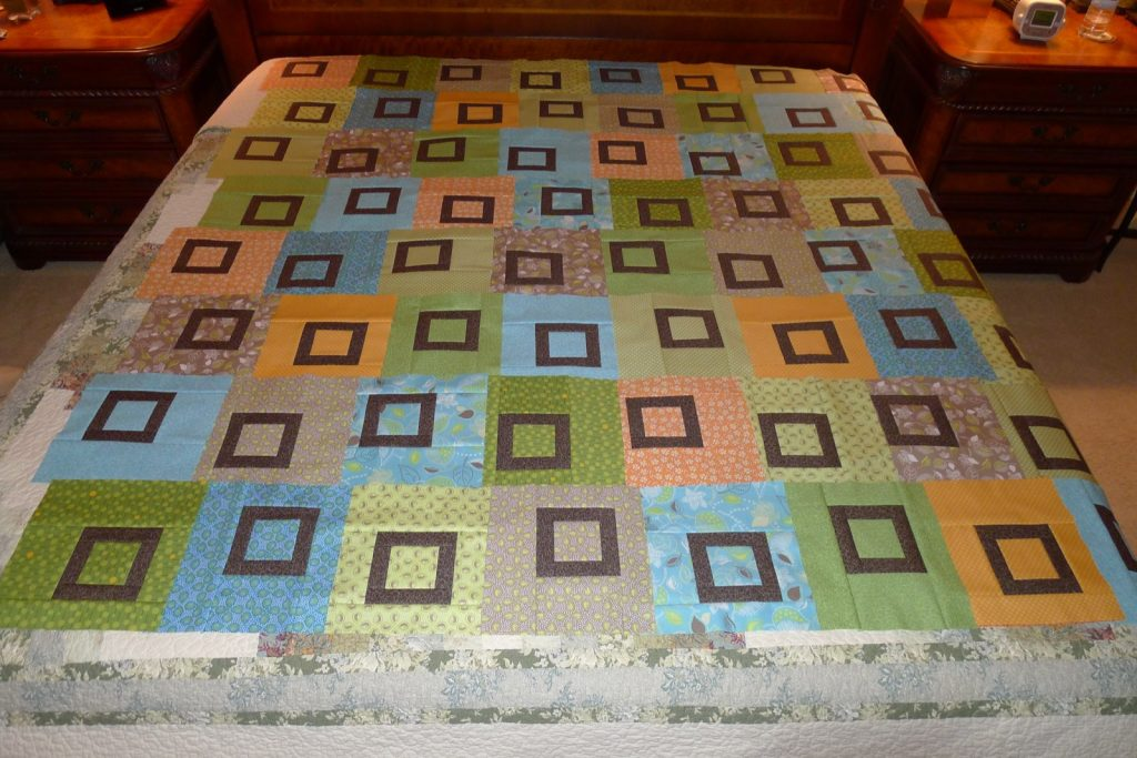 Sweet Pea quilt by Heather Mulder Peterson of Anka's Treasures, Laying out the blocks