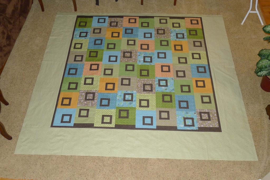 Sweet Pea quilt by Heather Mulder Peterson of Anka's Treasures, Finished quilt top