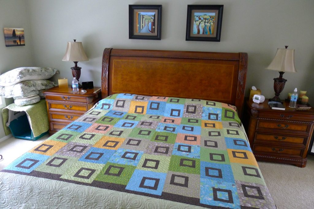 New quilt Sweet Pea by Heather Mulder Peterson of Anka's Treasures - No shams