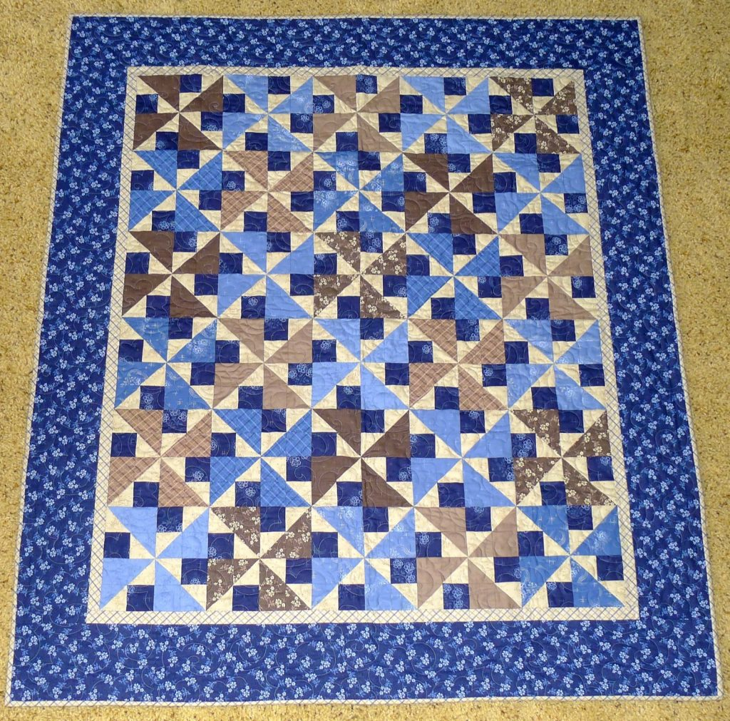 Midnight Shadows quilt by Connecting Threads, Finished quilt