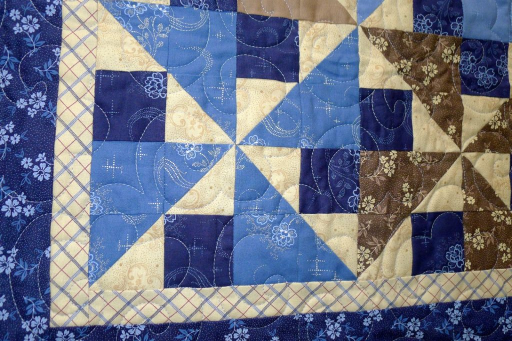 Midnight Shadows quilt by Connecting Threads, Finished quilt detail