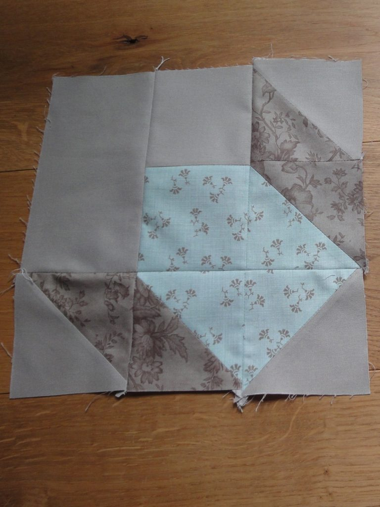 Partial Swoon block with 'extra' seams