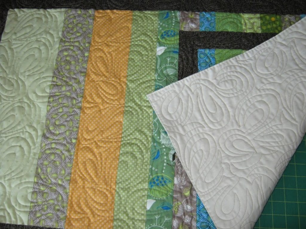 Quilted shams to go with Sweet Pea quilt by Heather Mulder Peterson of Anka's Treasures