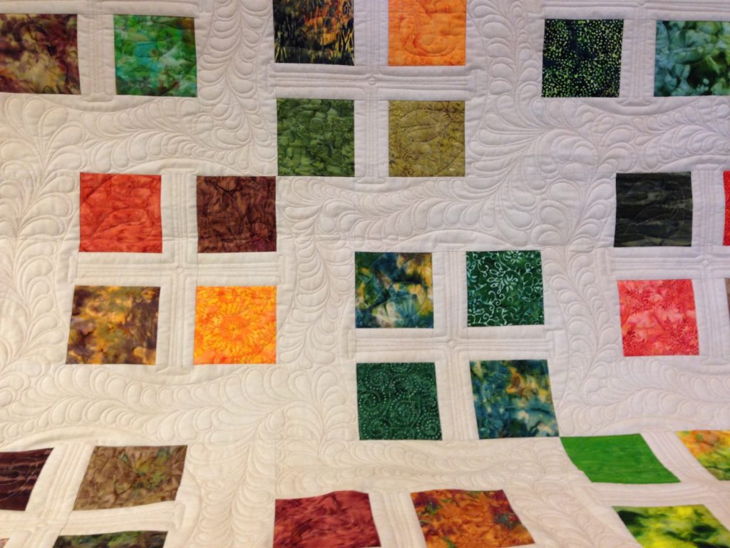 Square Dance quilt pattern by Konda Luckau, Finished quilt detail