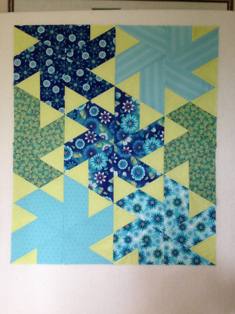 Ballerina quilt pattern by Jaybird Quilts, Finished quilt top