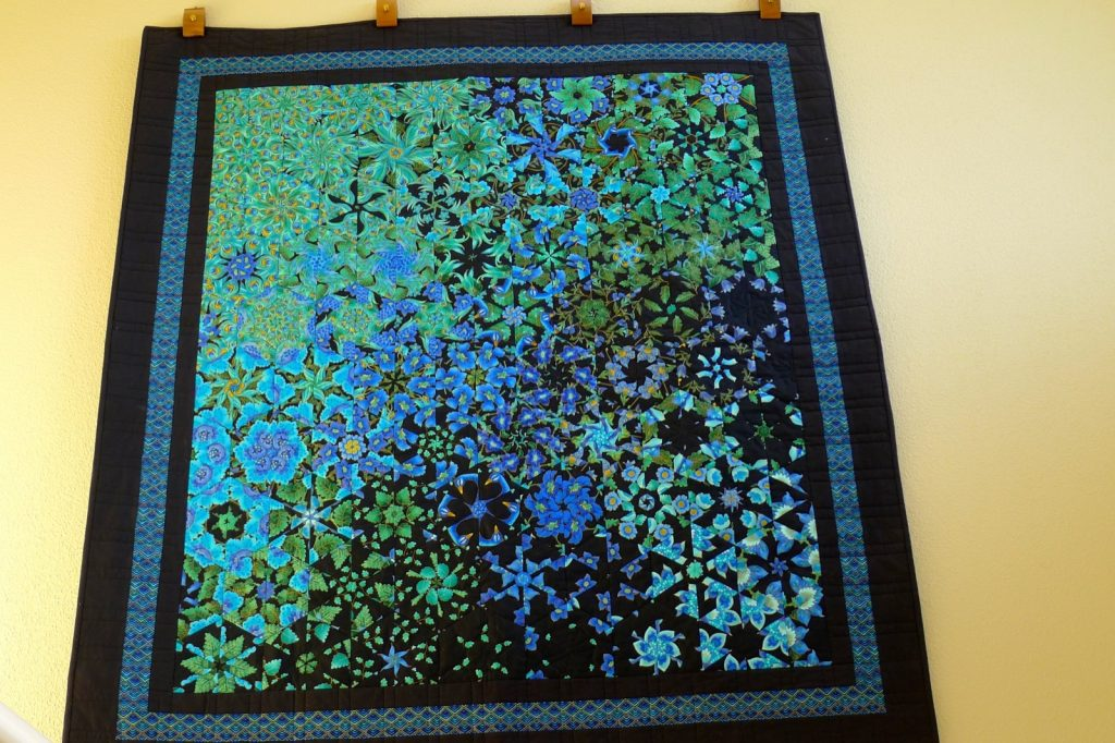 One Block Wonder, Finished One Block Wonder quilt