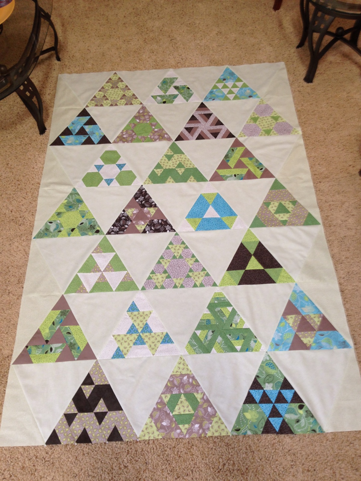 Toes in the Sand quilt pattern by Julie Herman of Jaybird Quilts, Finished top - or so I thought