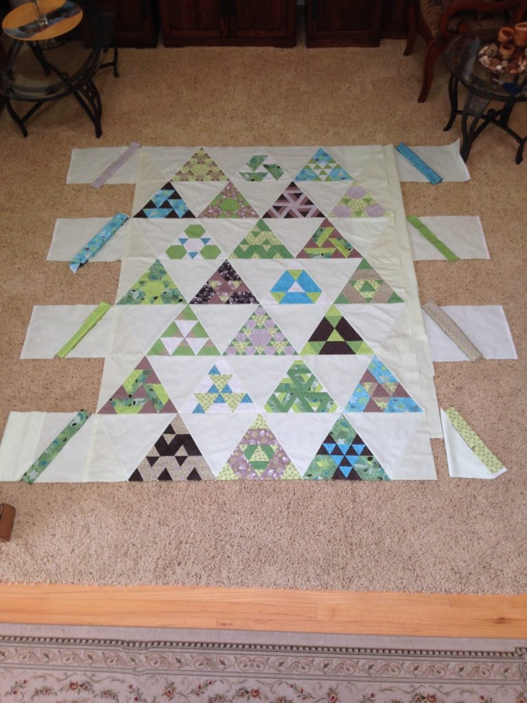Toes in the Sand quilt pattern by Julie Herman of Jaybird Quilts, Improvising to up-size to queen