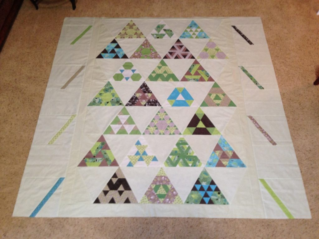Toes in the Sand quilt pattern by Julie Herman of Jaybird Quilts, Now the top is done!