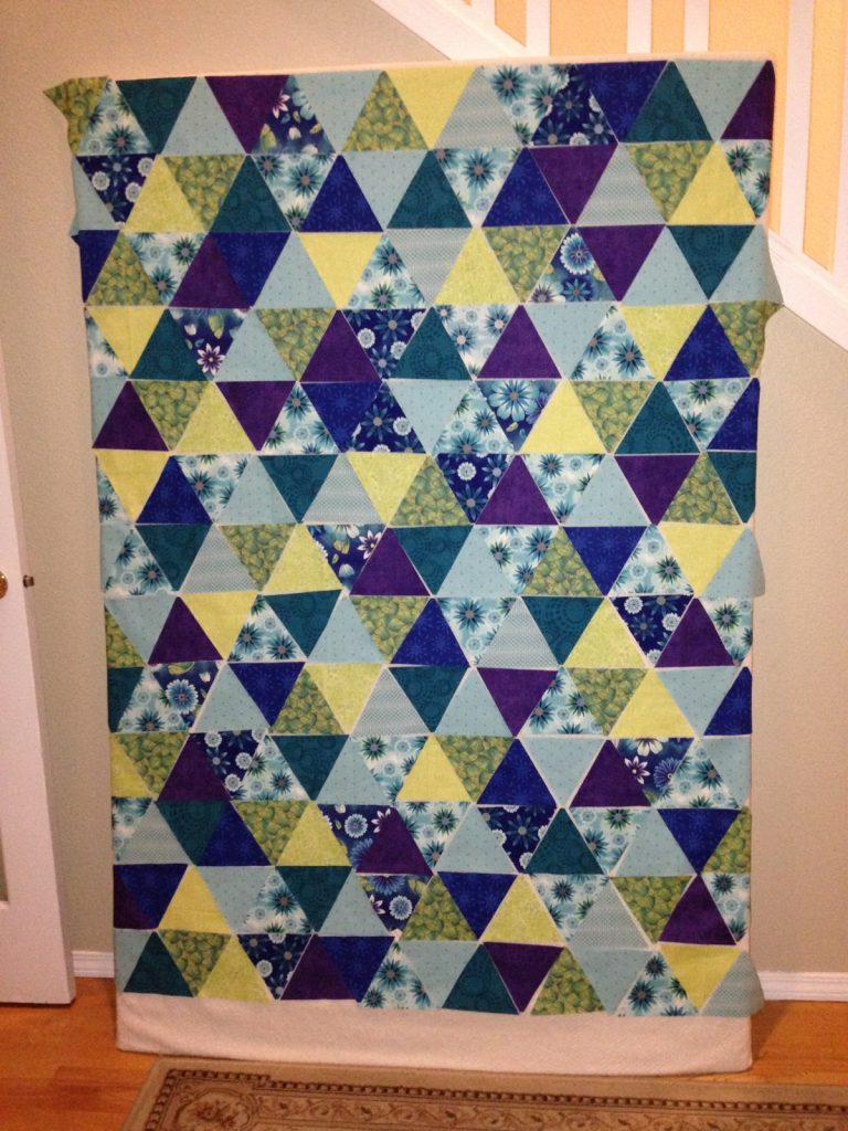 Equilateral triangle quilt, Arranging the triangles