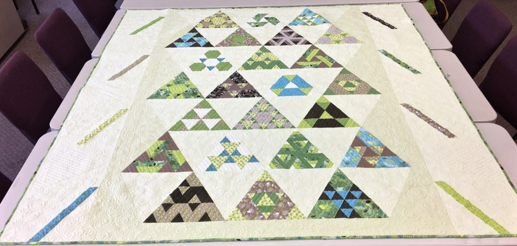 Toes in the Sand quilt pattern by Julie Herman of Jaybird Quilts, Finished quilt