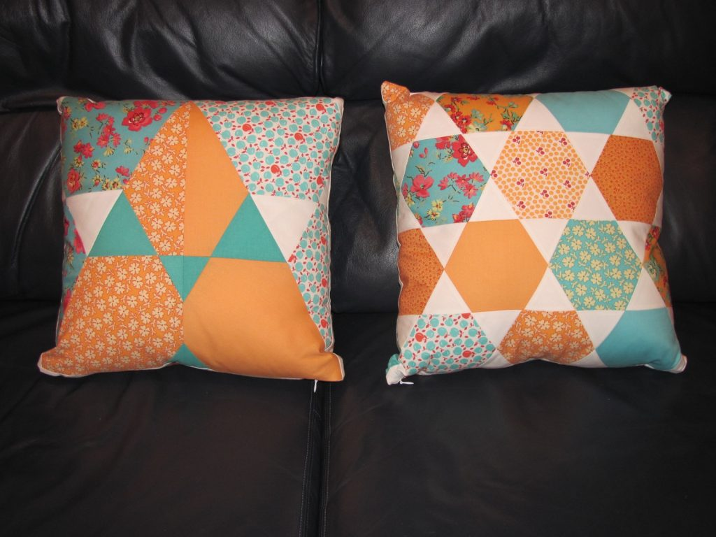 Finished Candy Dish pillows by Jaybird