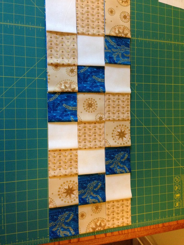 Choosing a layout for Rick and Susan's Christmas tree skirt