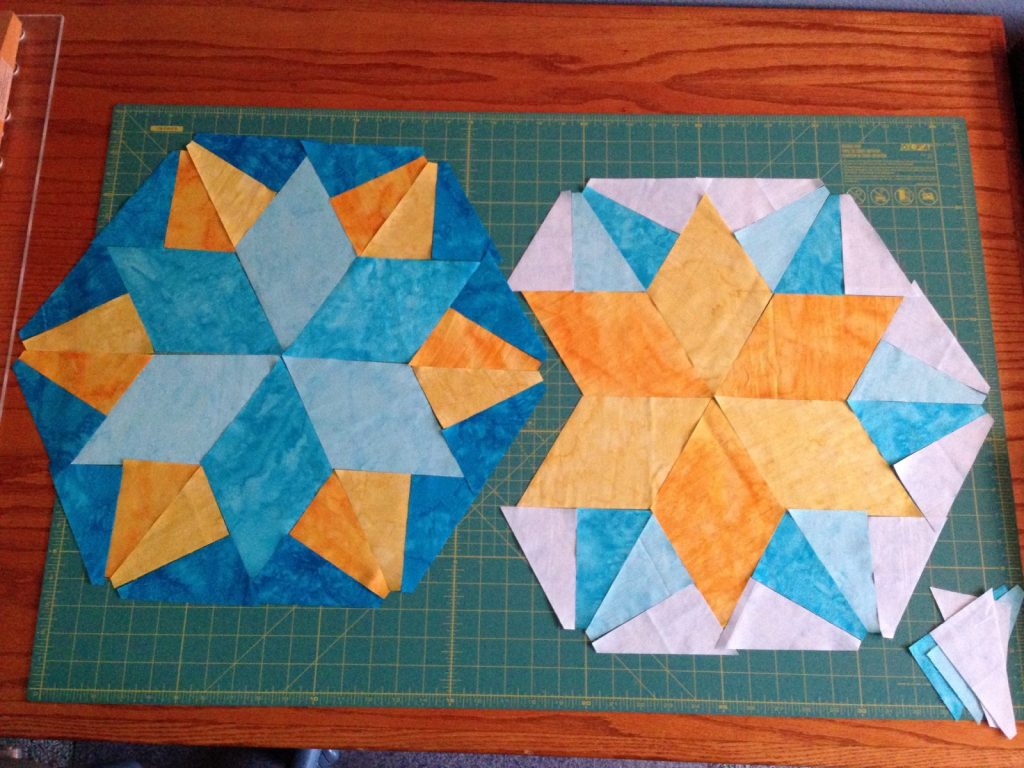 Park Bench by Jaybird Quilts - block 6 layout option 1