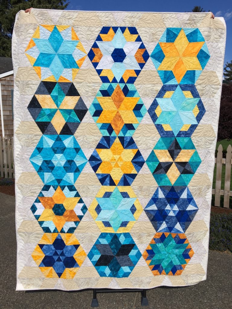 Park Bench by Jaybird Quilts - finished quilt