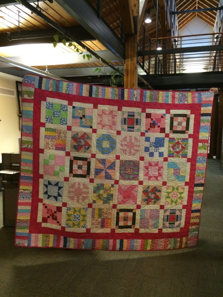 Tracie's quilt finished