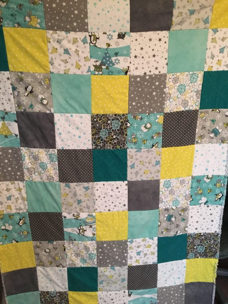 Finished rag quilt front