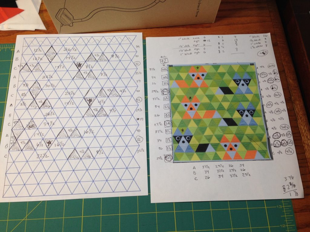 My notes for background fabric for Fox and Friends quilt by Sew Fresh Quilts