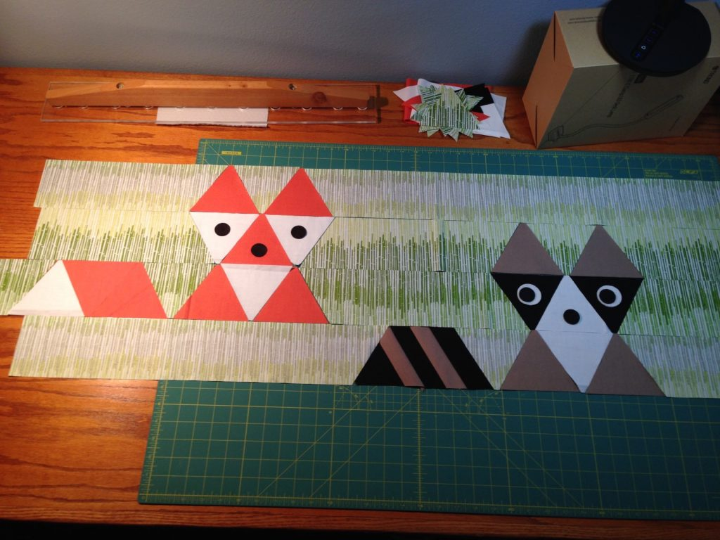 First peek at my Fox and Friends quilt by Sew Fresh Quilts