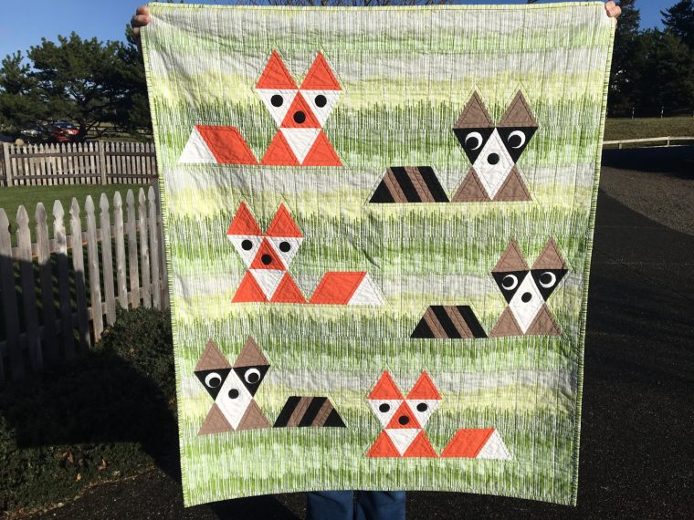 Finished Fox and Friends quilt by Sew Fresh Quilts