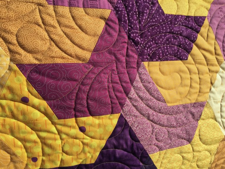 Splash by Jaybird finished quilt detail 1