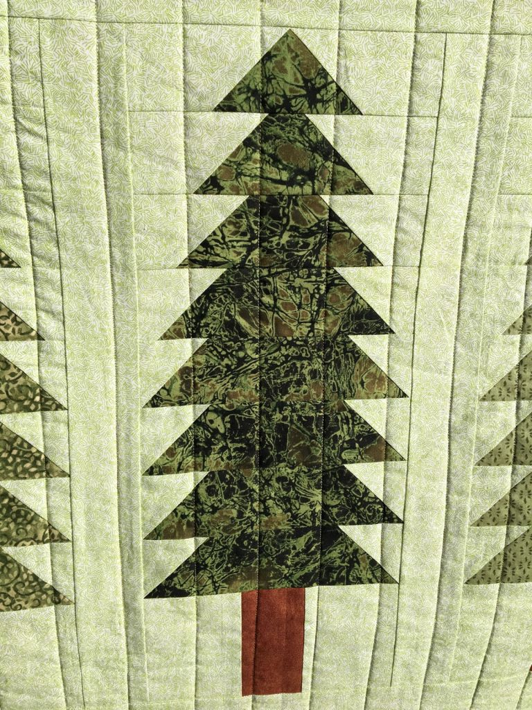Finished Legendary quilt tree detail
