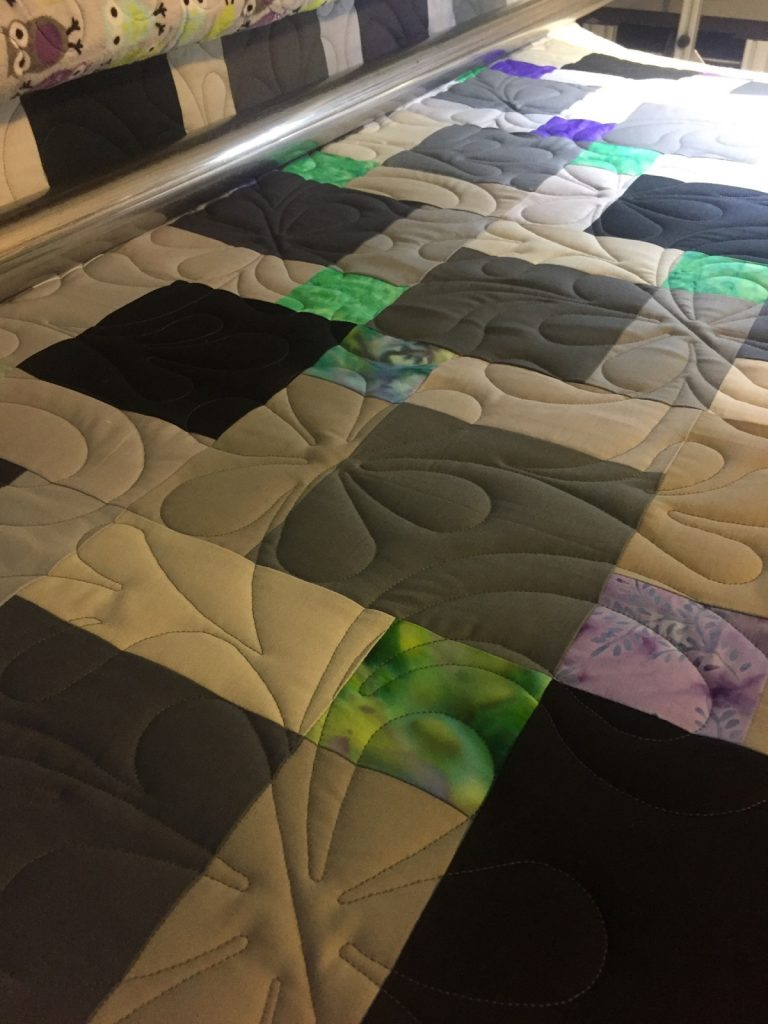Disappearing 9 patch on the longarm