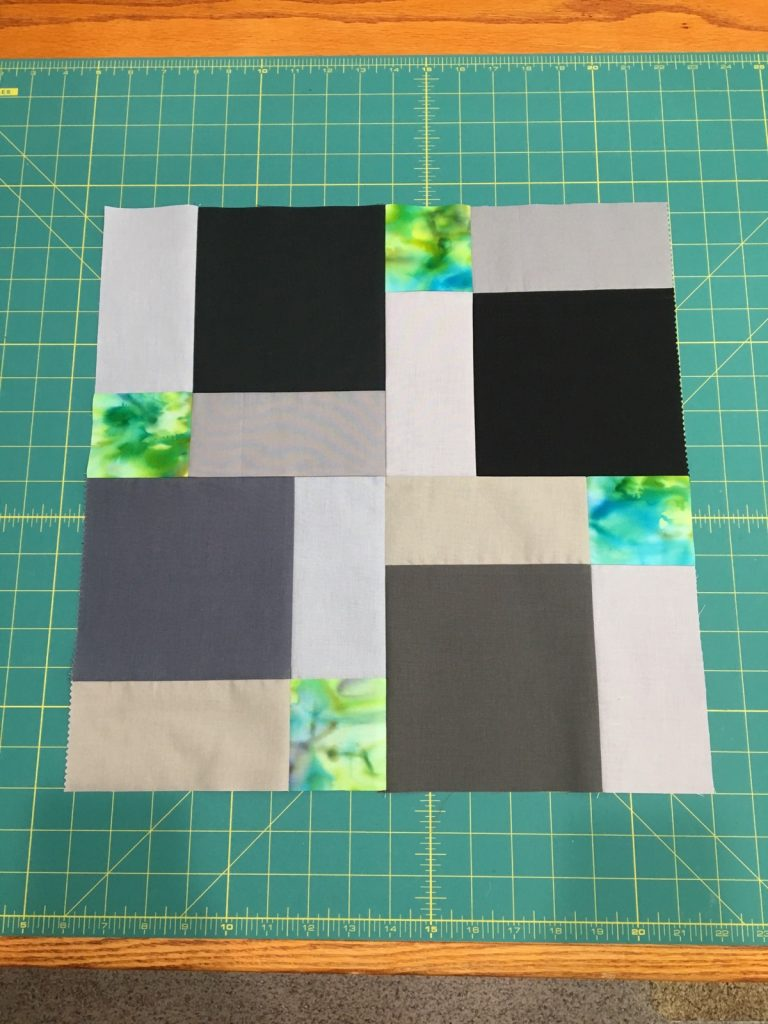 Step 5 - 4 pieces sewn together