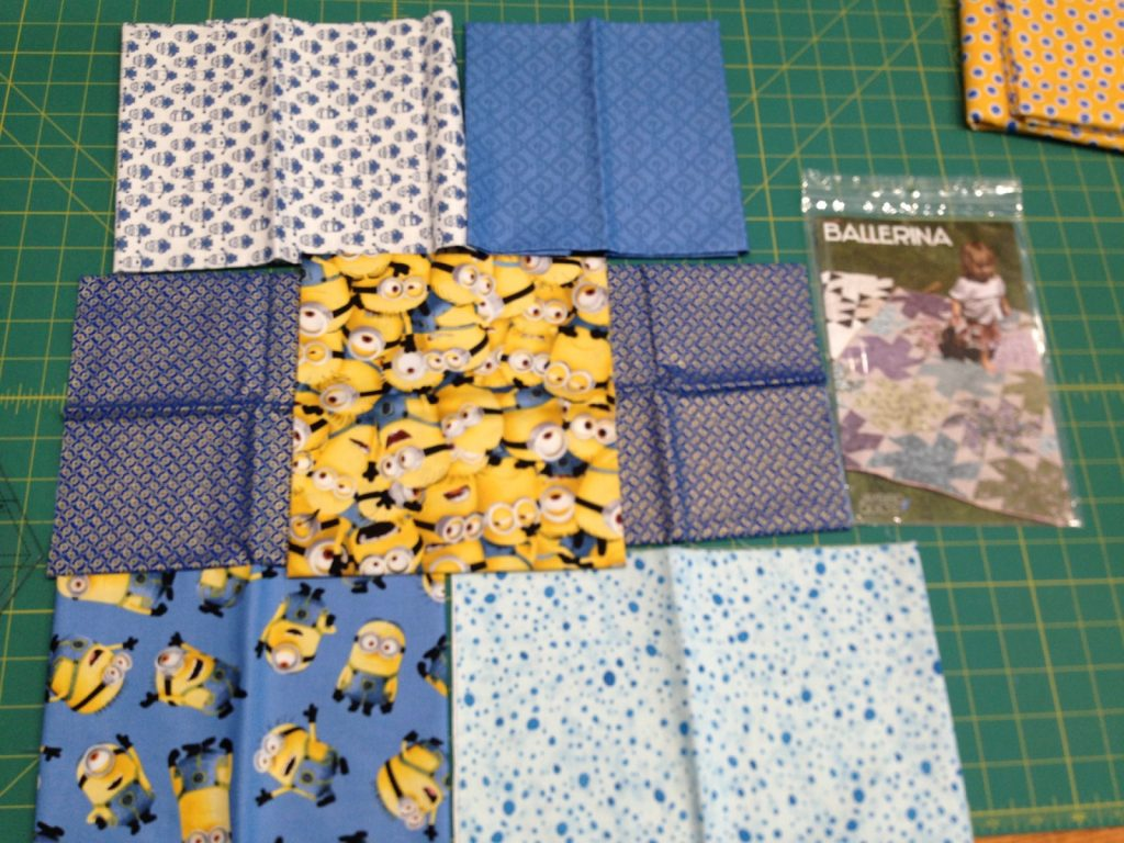 Fabric choices for minions quilt