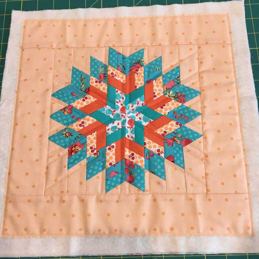 Glimmer by Jaybird pillow front quilted