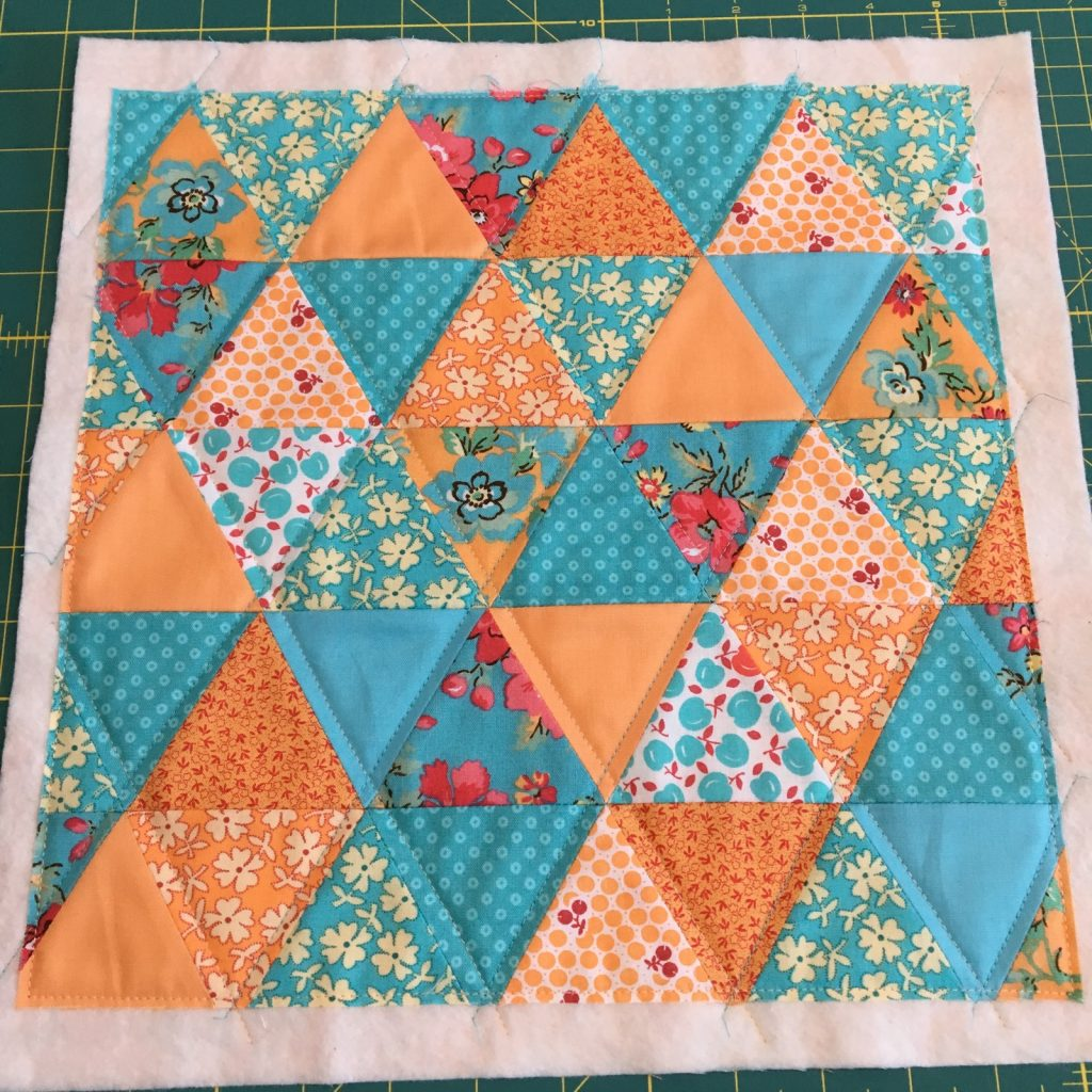 Glimmer by Jaybird pillow back quilted