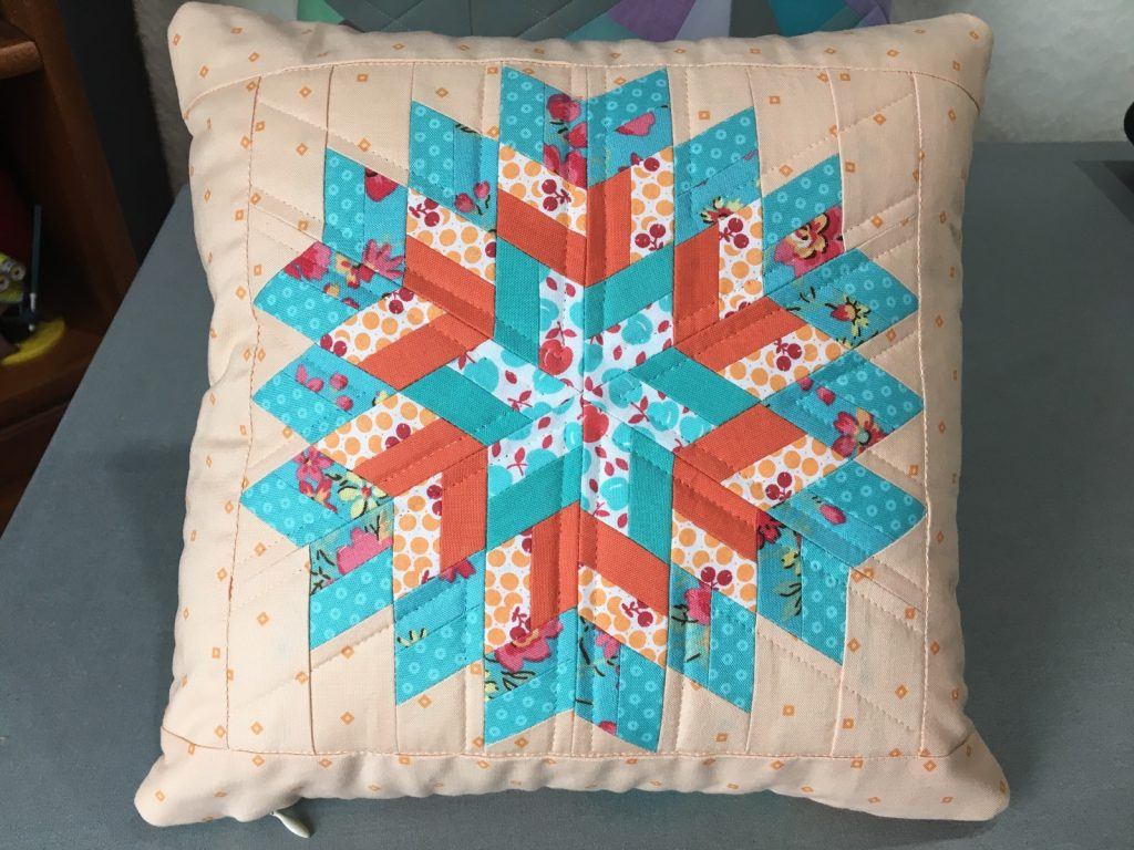 Glimmer by Jaybird pillow front finished