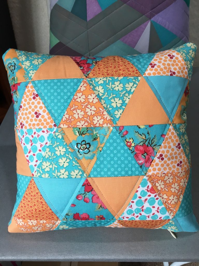 Glimmer by Jaybird pillow back finished
