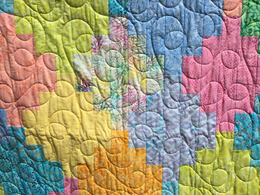 Vintner's Bouquet finished quilt detail 2