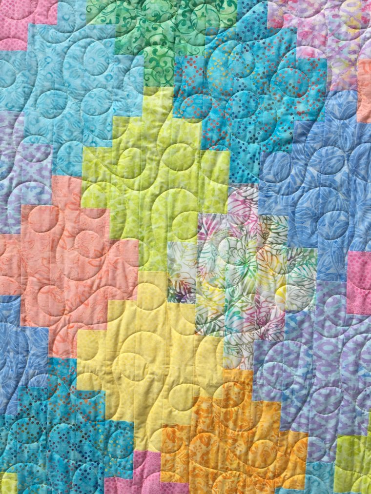Vintner's Bouquet finished quilt detail 1