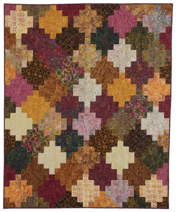 Vintner's Bouquet in McCall's Quick Quilts Oct/Nov 2017