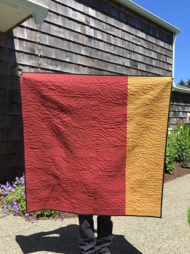 The finished Australian fabric quilt back