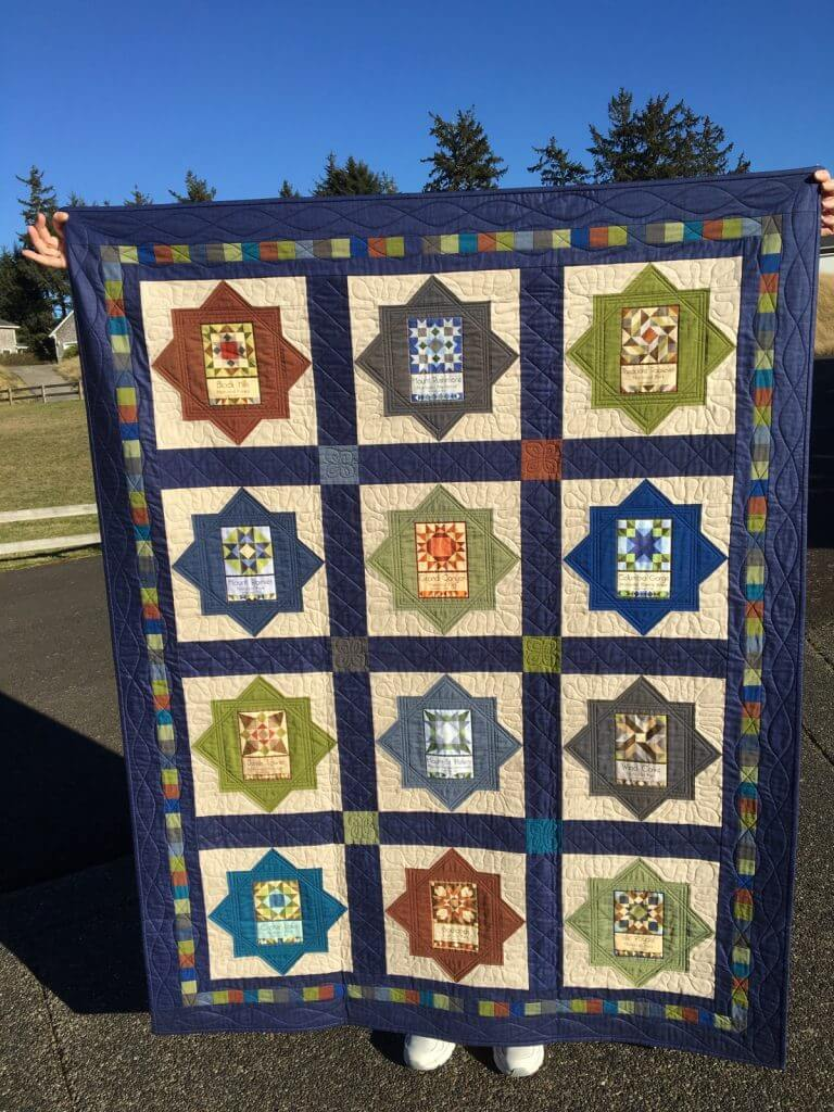 Finished National Park quilt